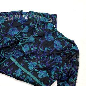 Metisu New XS Lace Sheath Dress Green Blue Black
